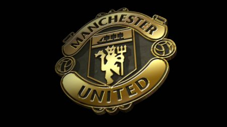 Gold Logo Machester United
