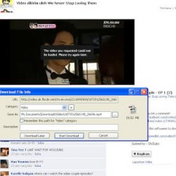 cara download video facebook dengan idm