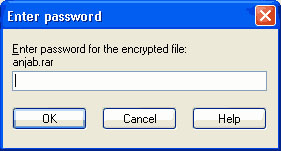 cara memberikan password file zip