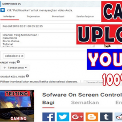 cara upload video youtube cepat