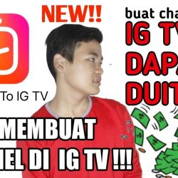 cara membuat channel saluran ig tv