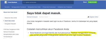 Cara Reset Password Facebook Dengan Email