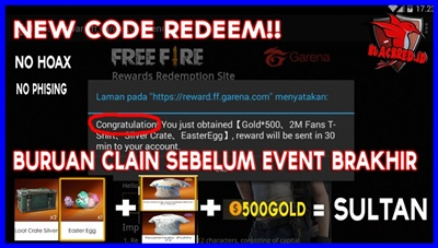 Redeem Code Free Fire Diamond